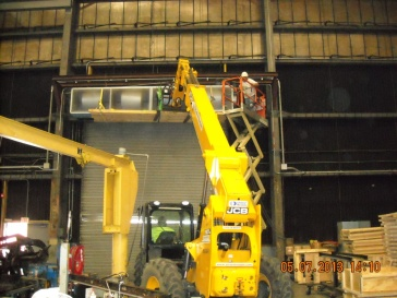 Remove and Re-install Air Curtains at B-148 and B-149